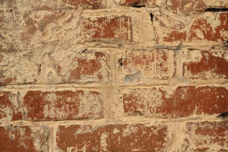 Ściana z cegieł czerwonej cegły tło zdjęcie royalty free