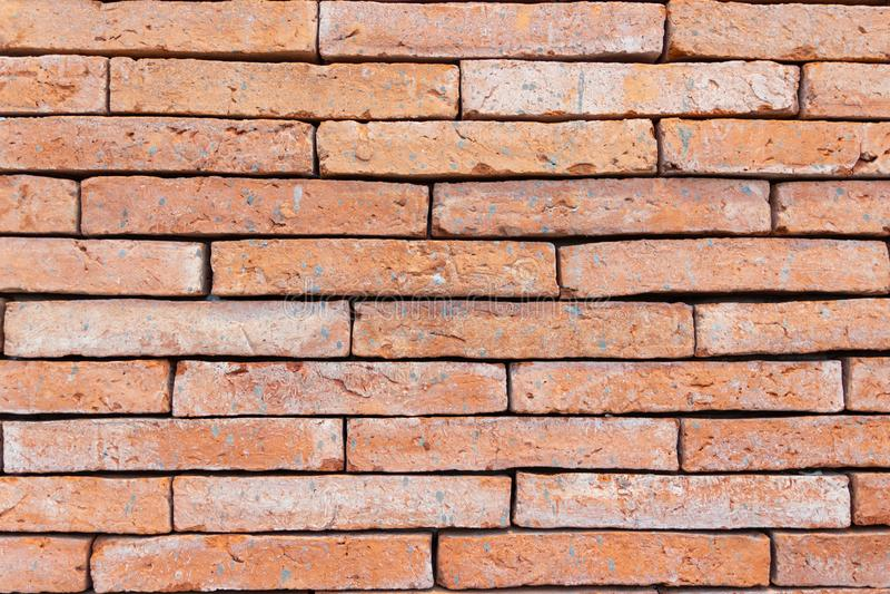 Ściana z cegieł dla przemysłu budowlanego zdjęcie stock