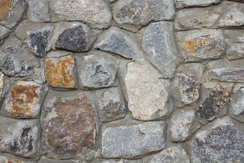 Ściana z cegieł dziki kamienia zakończenie up fotografia royalty free