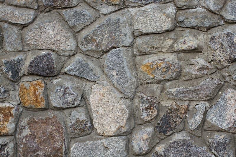 Ściana z cegieł dziki kamienia zakończenie up obrazy royalty free