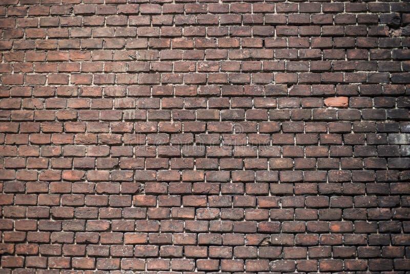 Ściana z cegieł inaczej zaświecająca fotografia stock