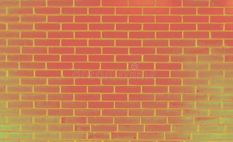 Ściana z cegieł, kolorowy różowy backgraund obraz royalty free