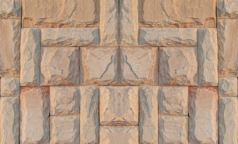 Ściana z cegieł pastelowego koloru retro brąz miękki używa deseniowego tło obrazy stock