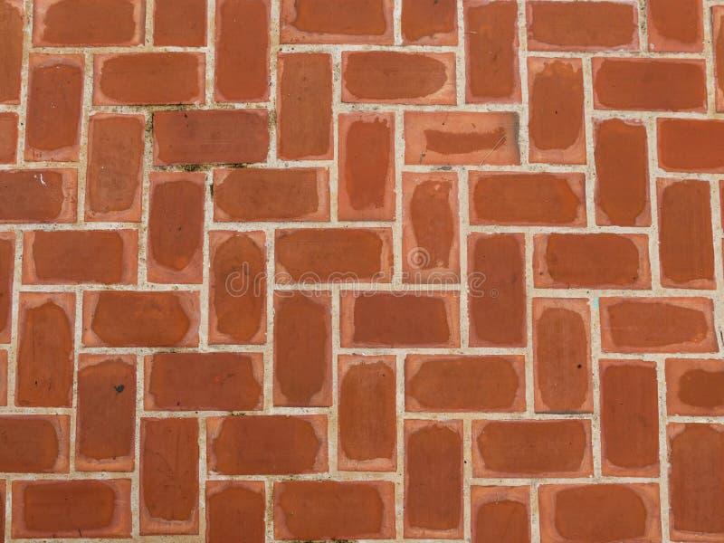 Ściana Z Cegieł, pomarańcze Która jest drogą przemian zdjęcia stock