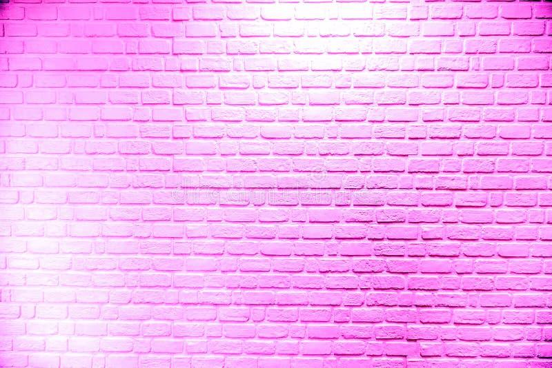 Ściana z cegieł różowy tło z tekstura wzorem zdjęcia royalty free