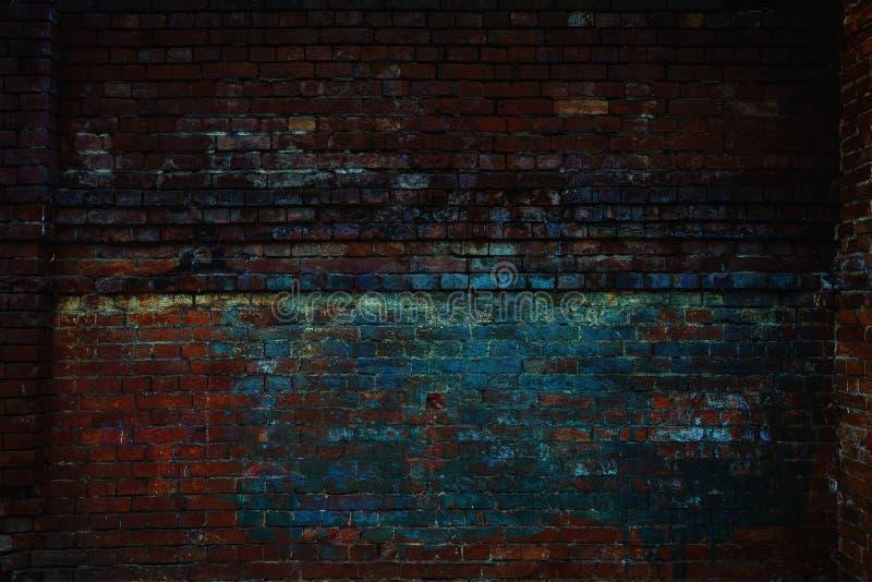 Ściana z cegieł tło, zamyka up obraz royalty free