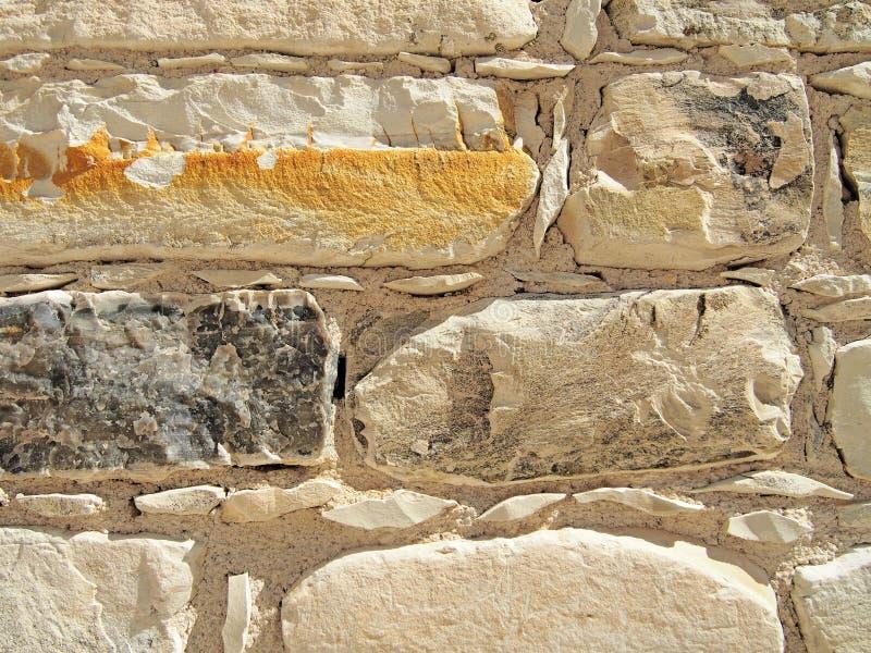Ściana z cegieł tekstura, beżowy kolor obraz stock