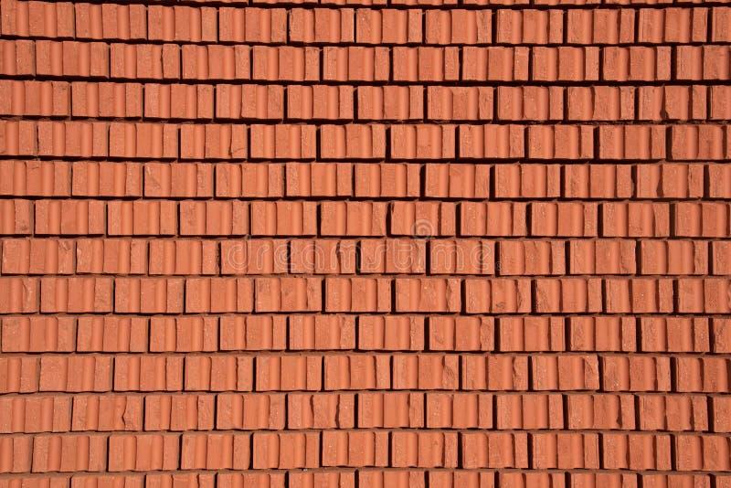 Ściana z cegieł tekstura czerwień kamień blokuje zbliżenie obrazy royalty free