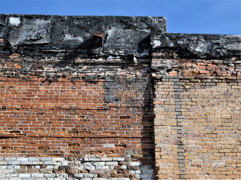 Ściana z cegieł, Ybor miasto, Tampa obraz royalty free