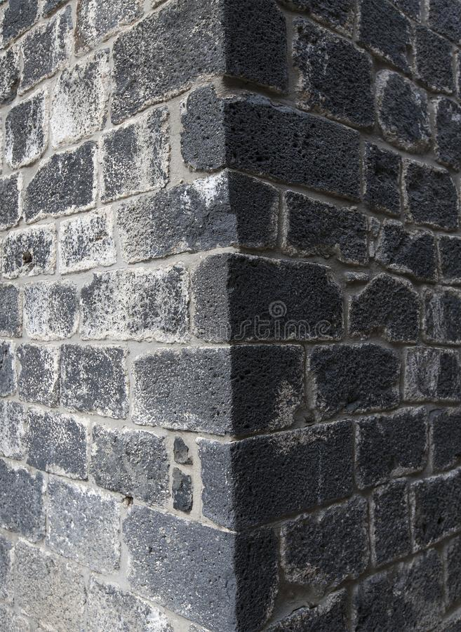 Ściana z cegieł zbliżenia kąt obrazy stock