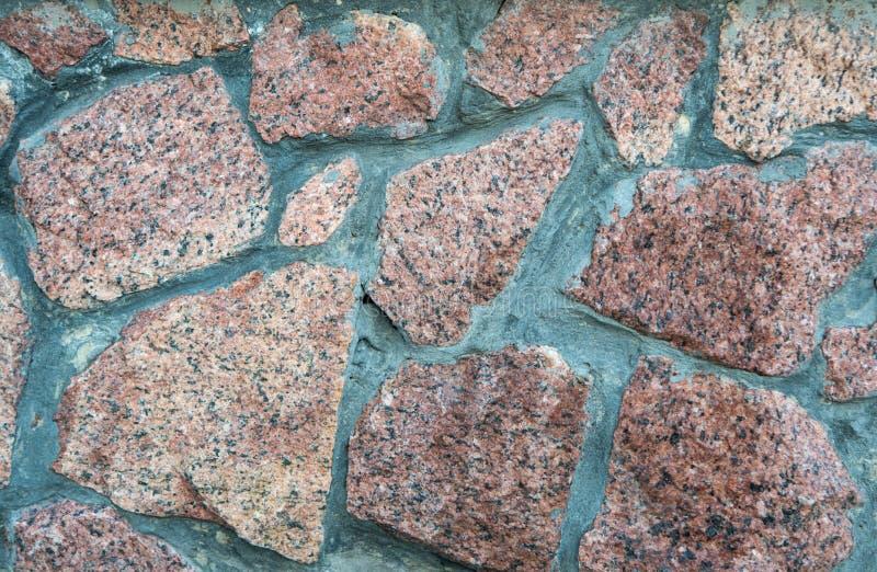Ściana z granitowym kamieniem zdjęcie stock