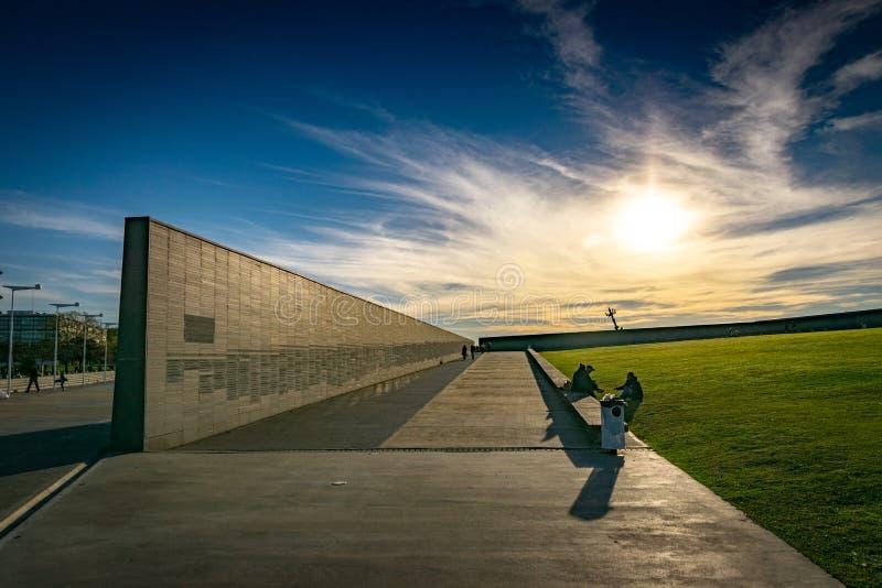 Ściana z imionami ofiary stan przemoc w parku pamięć w Buenos Aires, Argentyna zdjęcie royalty free
