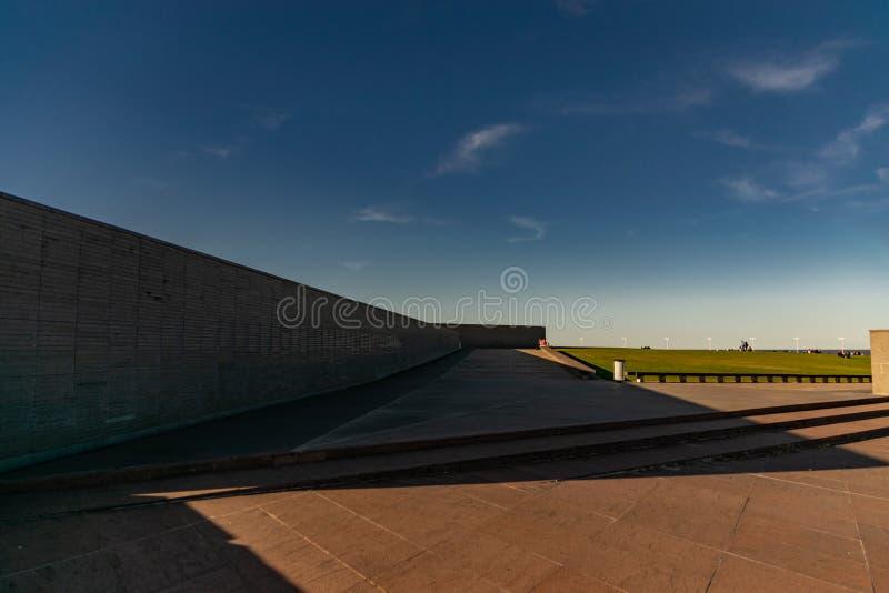 Ściana z imionami ofiary stan przemoc w parku pamięć w Buenos Aires, Argentyna zdjęcia royalty free