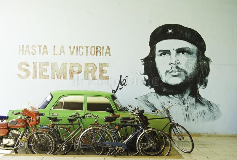 Ściana z projektem Che Guevara fotografia royalty free