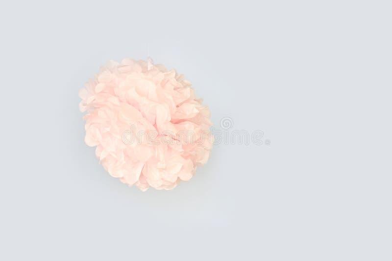 Ściana z tłem papierowych kwiatów handmade rzemiosła kreatywnie abstrakcja fotografia stock