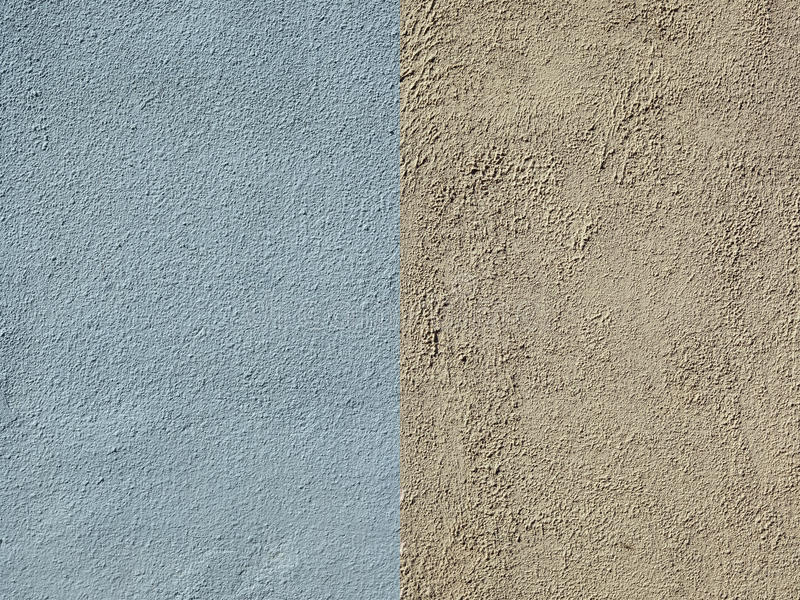 Ściana zakrywa z błękitem i kolor żółty textured tynkiem fotografia royalty free