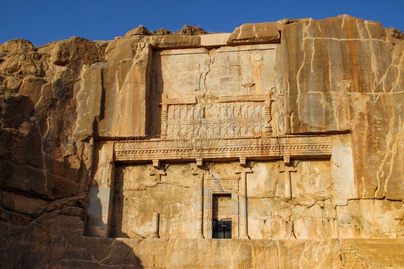 Ściany antyczny kapitał Persia Persepolis jest kapitałem Achaemenid królestwo widok Iran Antyczny Persia zdjęcia royalty free