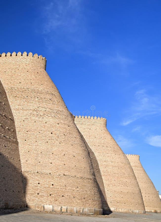 Ściany Bukhara, Uzbekistan fotografia royalty free