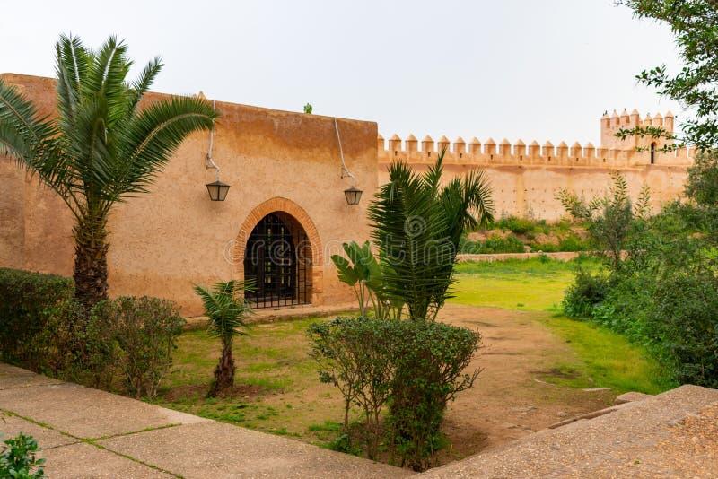 Ściany Chellah w Rabat Maroko obrazy royalty free