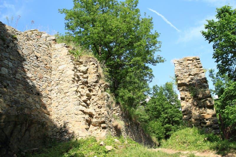 Ściany grodowy dziewczyna kamień zdjęcia stock