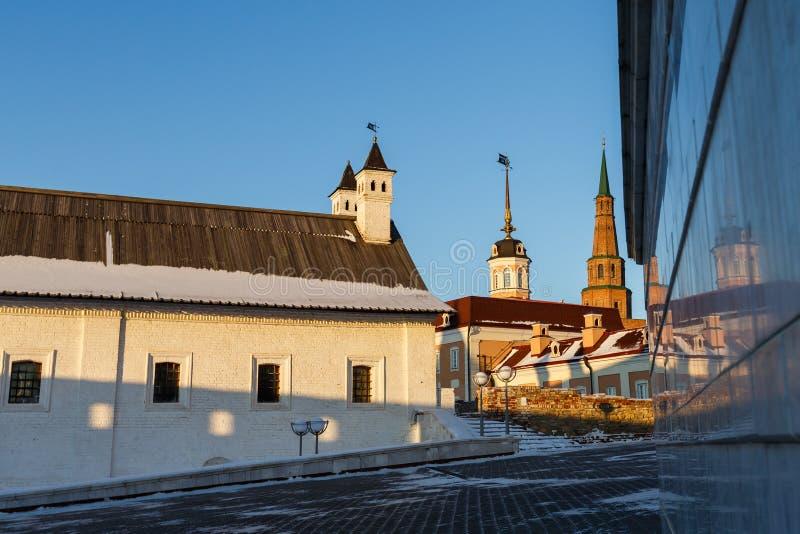 Ściany Kazan Kremlin zdjęcia stock