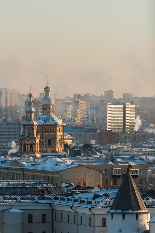 Ściany Kazan Kremlin obrazy stock
