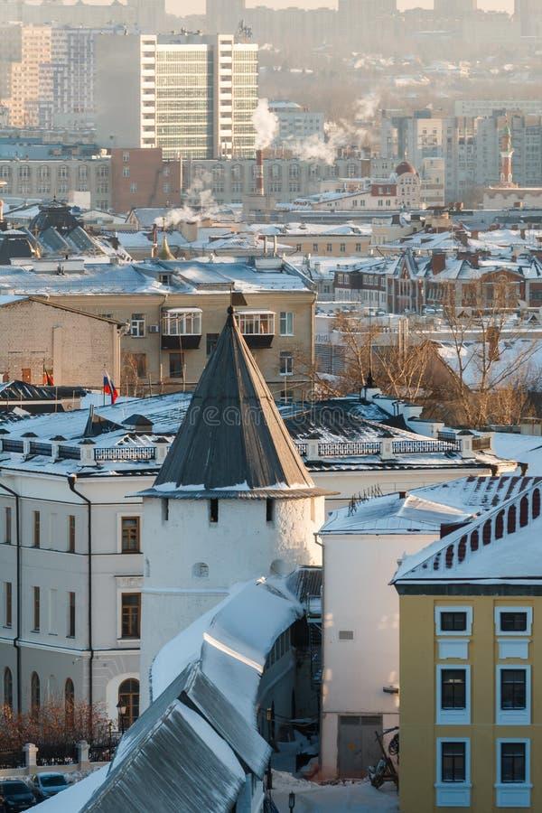 Ściany Kazan Kremlin zdjęcie royalty free