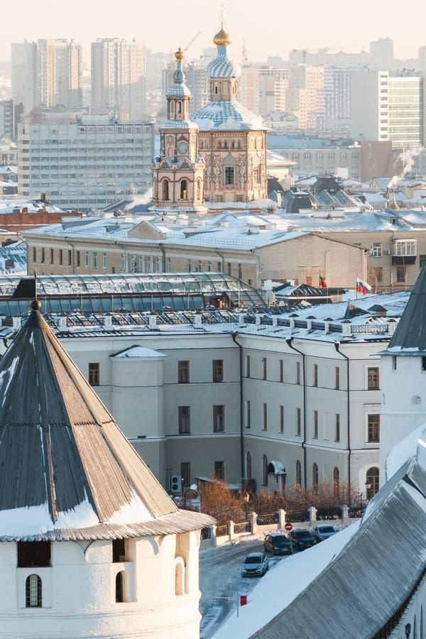 Ściany Kazan Kremlin fotografia royalty free