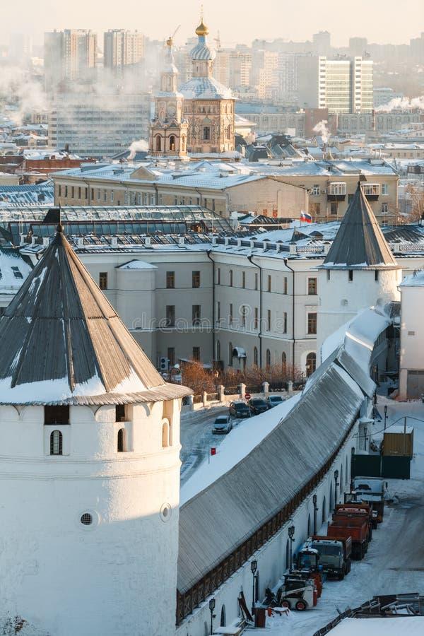 Ściany Kazan Kremlin fotografia stock
