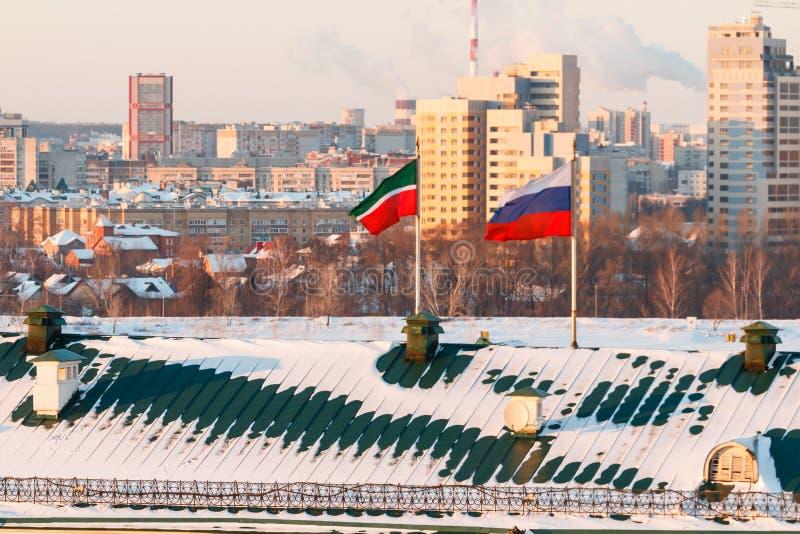 Ściany Kazan Kremlin obrazy royalty free