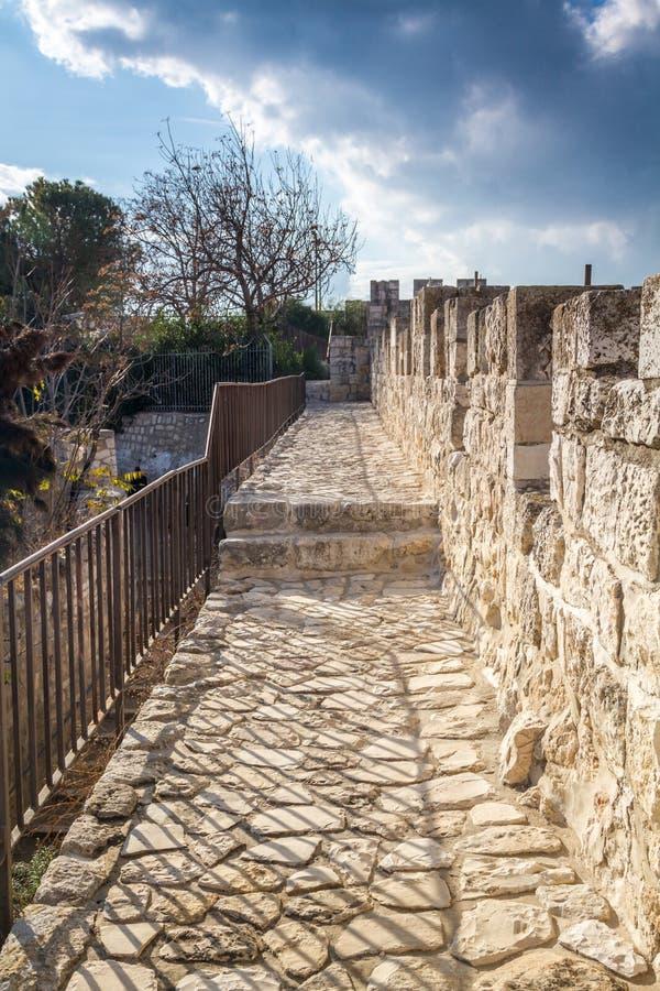 Ściany Stary miasto Jerozolima, Izrael zdjęcie royalty free