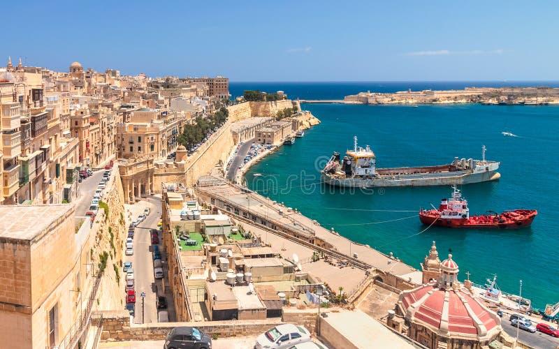 Ściany Valletta zdjęcie royalty free
