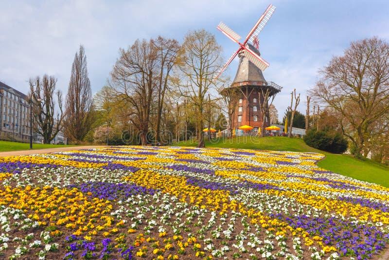 Am ściany wiatraczek w Bremen, Niemcy obraz royalty free
