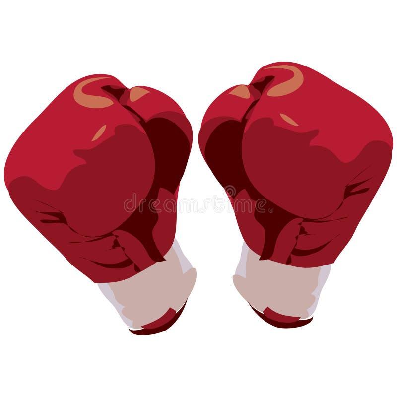 ścieżka bokserska wycinek rękawiczek ilustracja wektor