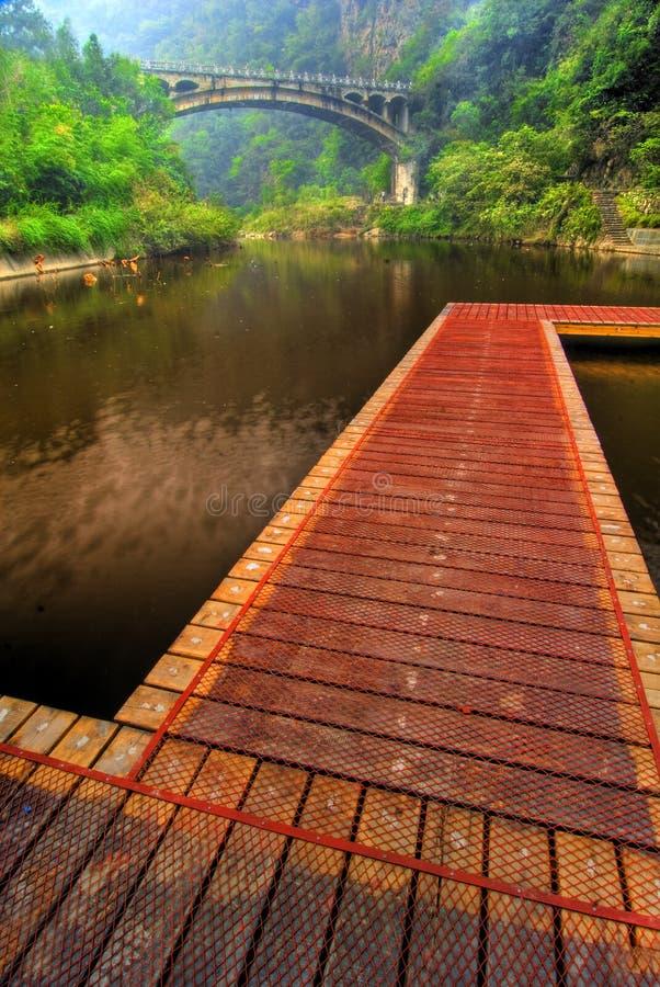 ścieżka bridge drewniana obrazy stock