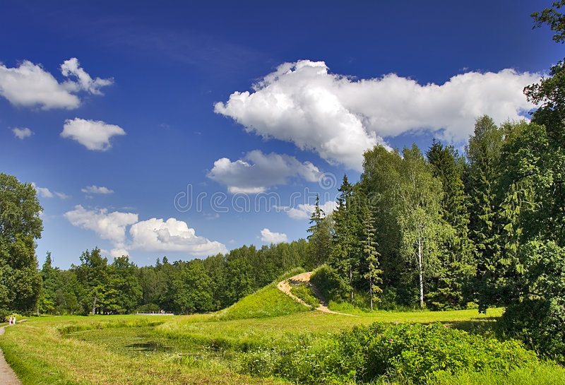ścieżka hill obraz stock