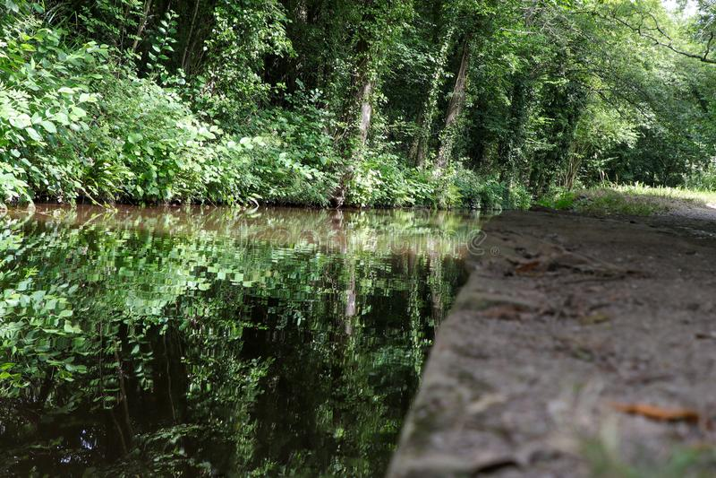 Ścieżka kanału i palca fotografia royalty free