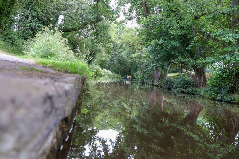 Ścieżka kanału i palca obraz stock