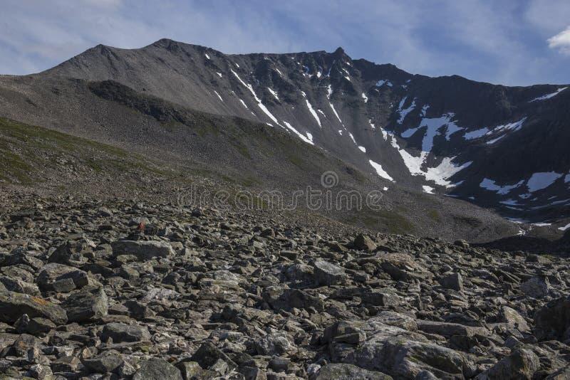 Ścieżka masyw, niedaleki Trollstigen w Norwegia obraz stock