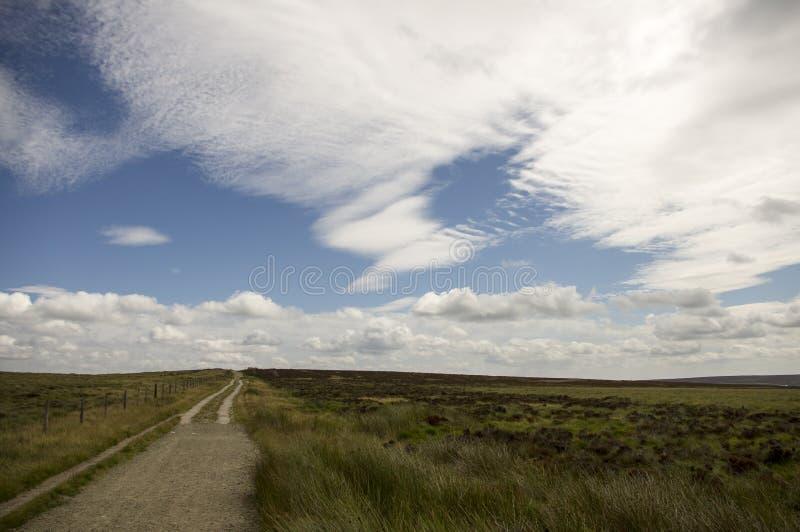 Ścieżka na Moorland fotografia royalty free