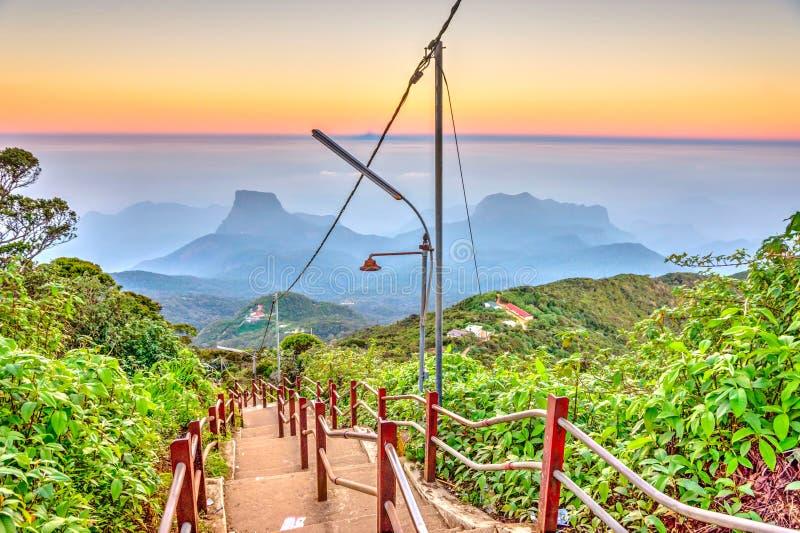 Ścieżka od Adams szczytu, Sri Lanka zdjęcie royalty free
