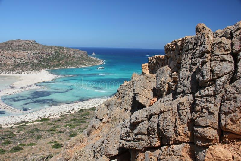 Ścieżka piękna zatoka Balos w Crete zdjęcia royalty free