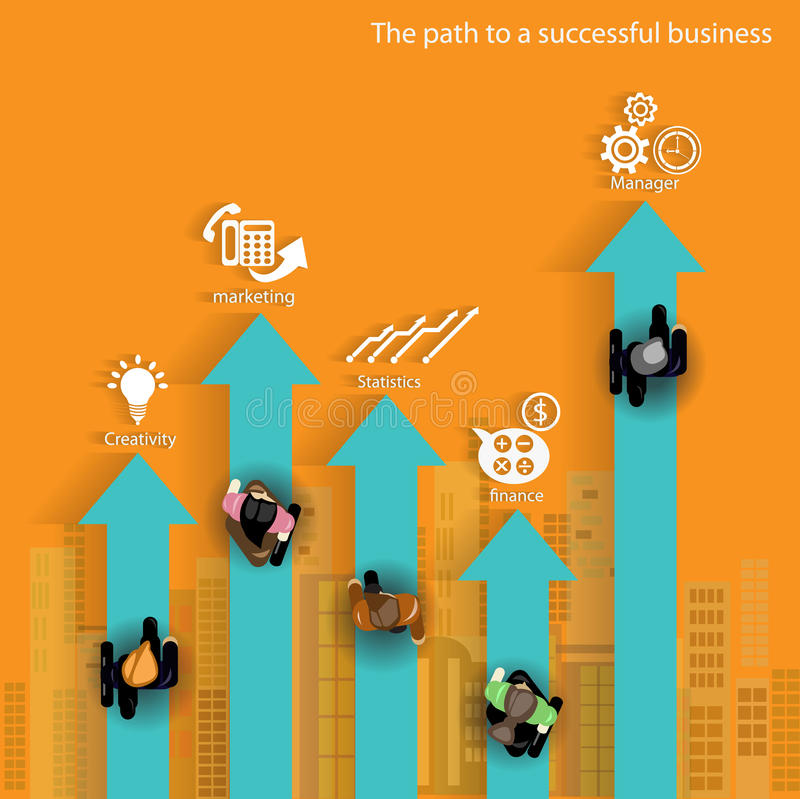 Ścieżka pomyślny biznes royalty ilustracja