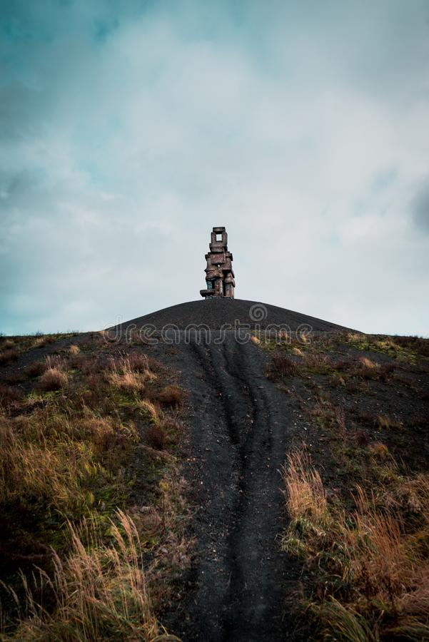 Ścieżka prowadzi himmelstreppe w Gelsenkirchen, Germany zdjęcia stock