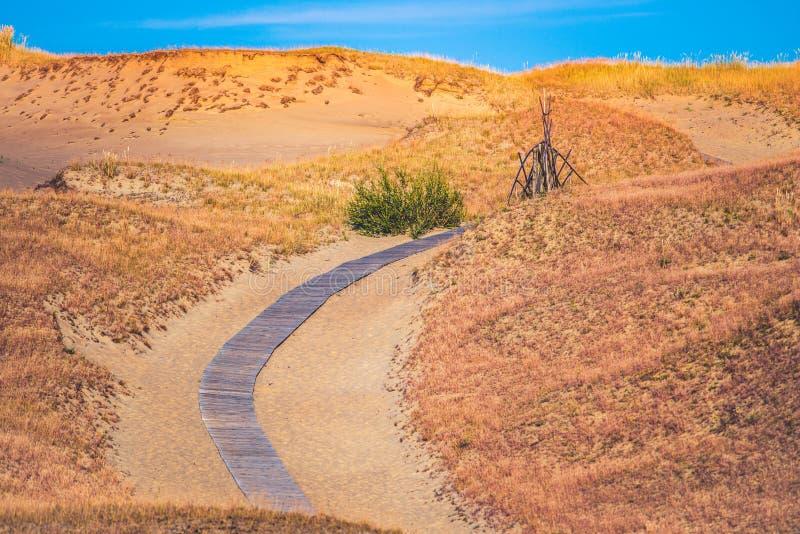 Ścieżka przez piaska obraz royalty free