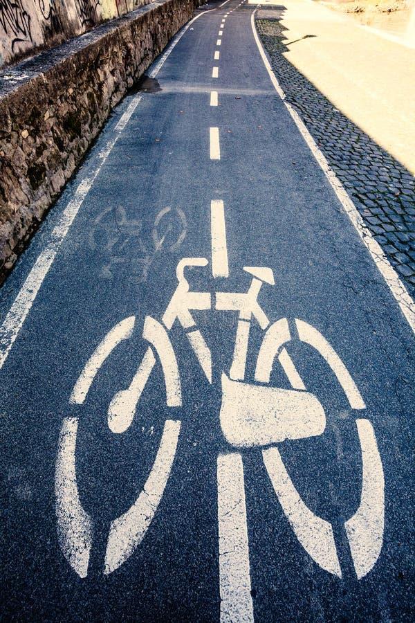 ścieżka rower Bawi się aktywność w mieście obraz stock