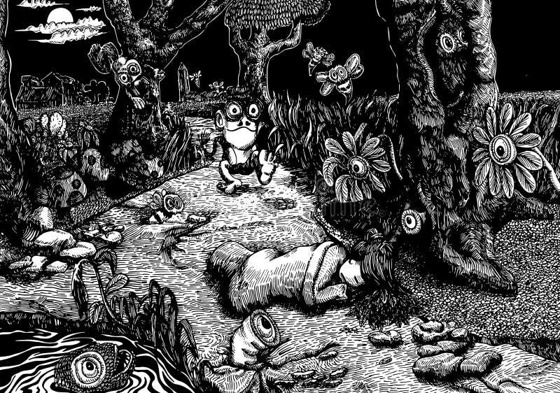 Ścieżka sen - bajki opowieści książkowa ilustracja ilustracja wektor
