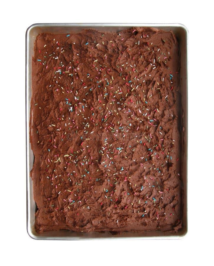 ścieżka tortu czekoladki fotografia stock