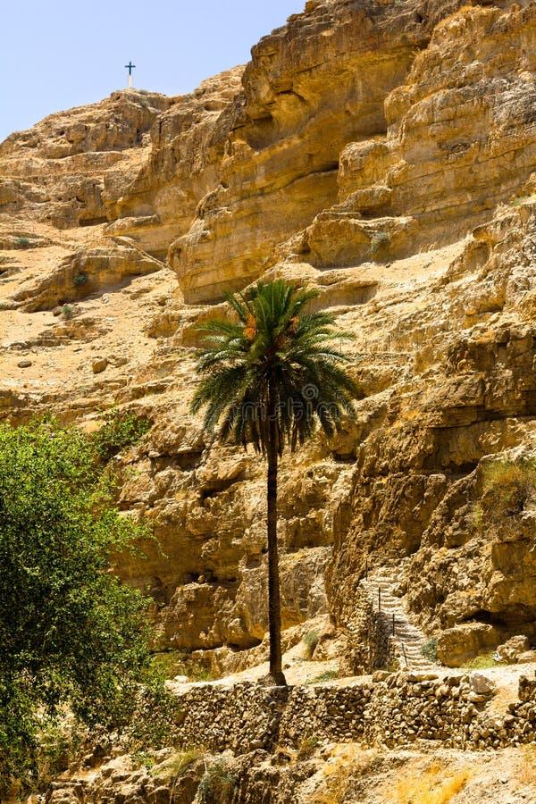 Ścieżka wierzchołek, Judejska pustynia fotografia royalty free