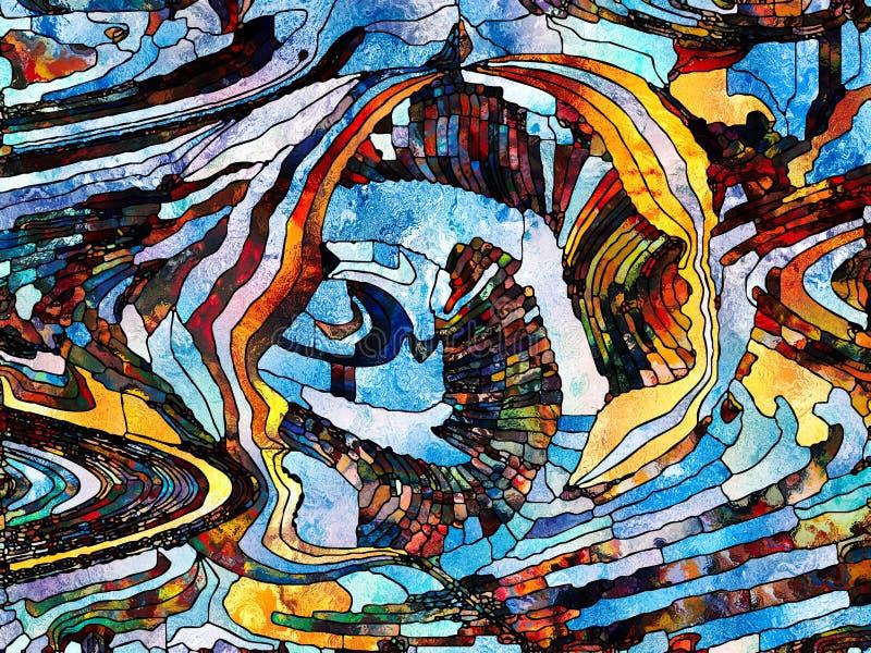 Ścieżki koloru podział ilustracja wektor
